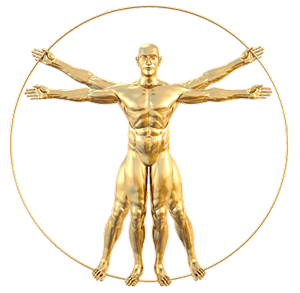 Goldener Vitruvian